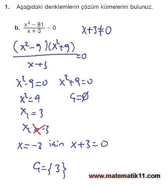 11. Sınıf Matematik Nova Yayınları Ders Kitabı 121. Sayfa İleri Düzey Çözümleri