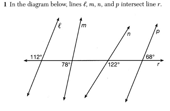 X why august 2016 common core geometry regents part 1 in the diagram below lines l m n and p intersect line r ccuart Images