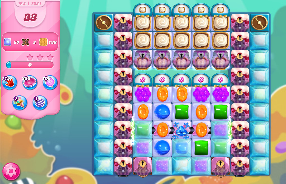 Candy Crush Saga level 7021
