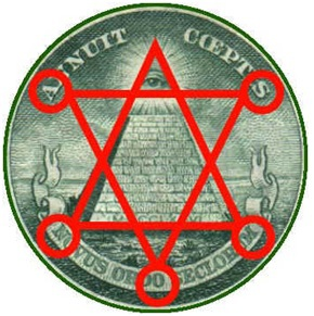 Note how the above constructed hexagram, another occult symbol, spells Mason