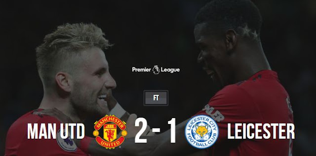 Manchester United vs Leicester City 2-1