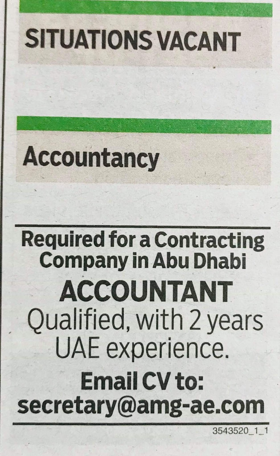 Required Accountant for UAE Local Hiring JOBS Khaleej Times