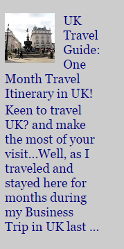 1-Month UK Travel Guide
