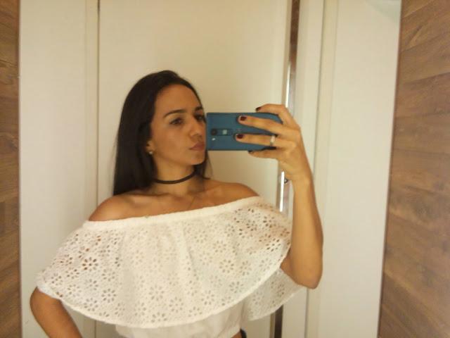blusas ombro de fora