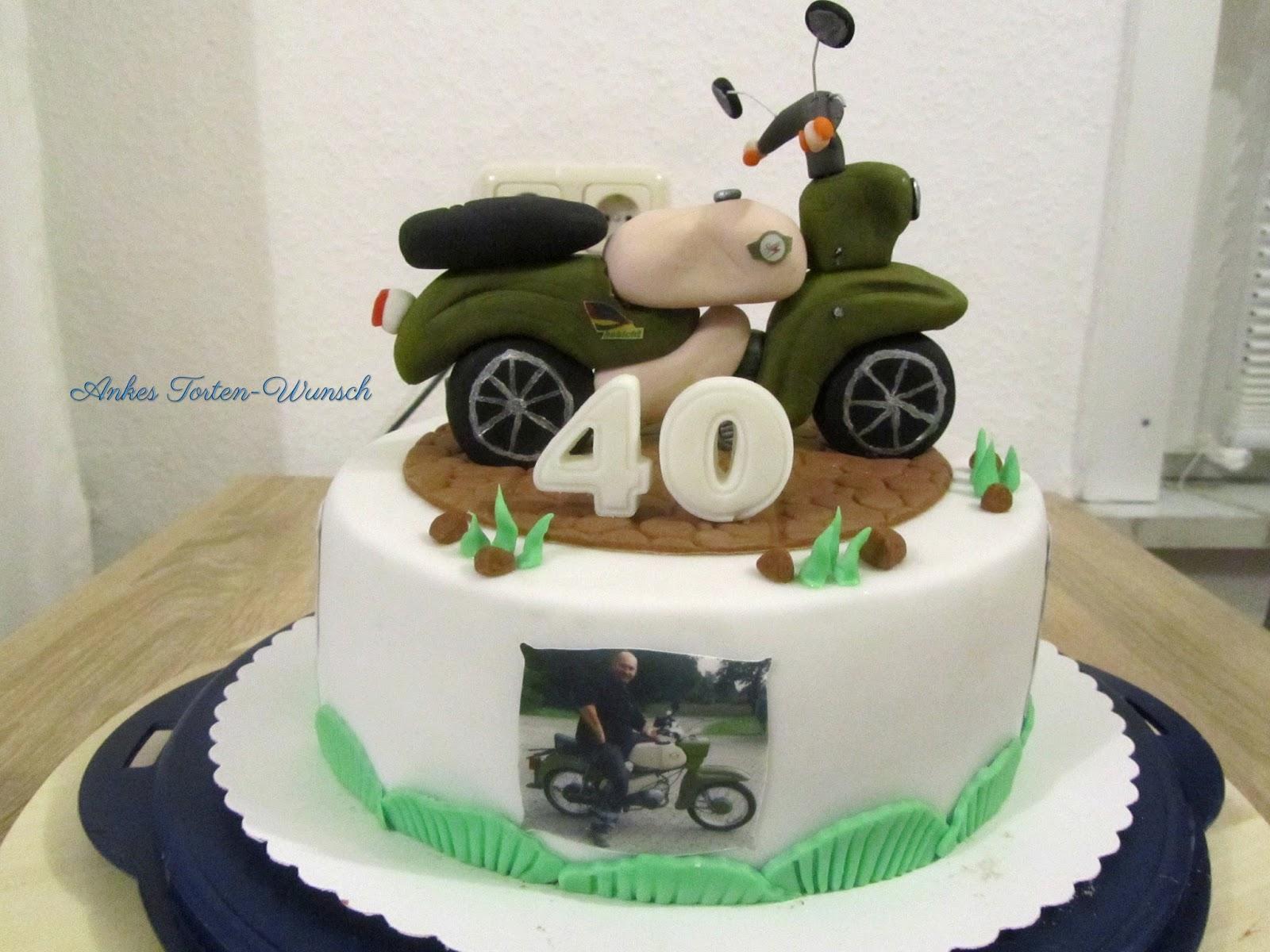 Simson Moped Geburtstags Torte Zum 40 Geburtstag Ankes Torten Wunsch