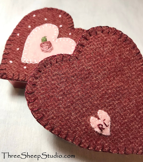 'Wooly Good' Valentine's Boxes by Rose Clay at ThreeSheepStudio.com
