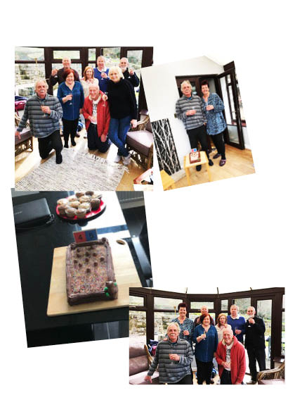 We were happy to celebrate Ann and Dave's wedding anniversary at a recent Friday afternoon boules session
