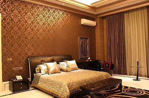 Wallpaper Dinding Gold Motif Batik