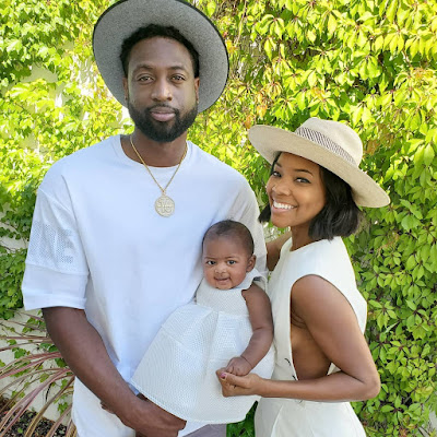 Gabrielle Union Dwyane Wade and Kaavia James in adorable family photo