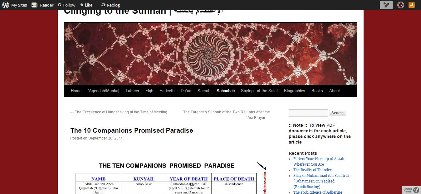 Ten Companions Promised Jannah