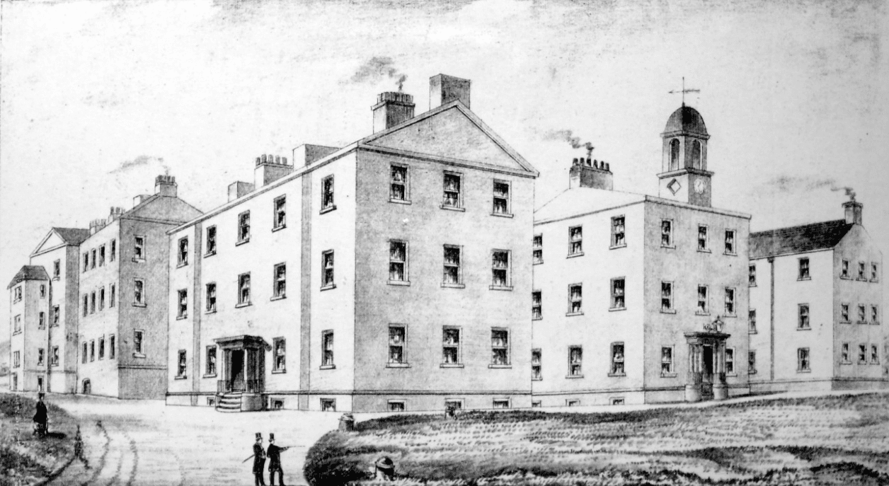 Drawing of Cork Street Fever Hospital and House of Recovery, 1899