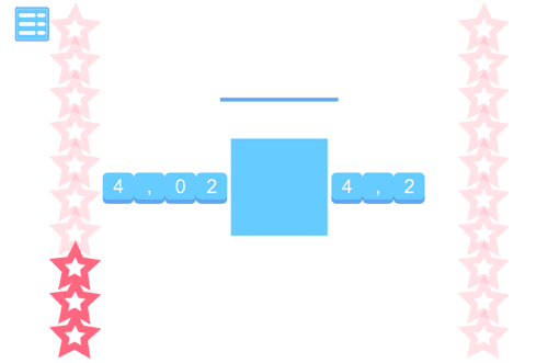Which decimal number is bigger? Tablet friendly game