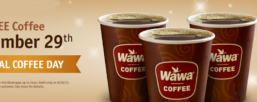 FREE Coffee at Wawa on Tuesday September 29th