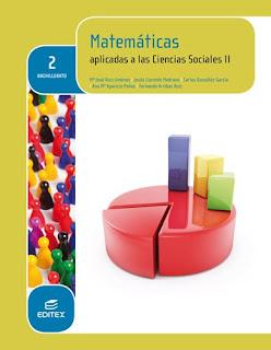 Libro Matemáticas II CCSS 2º Bachillerato Editex (LOMCE)