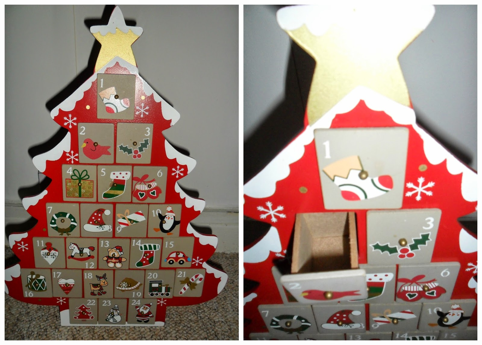 stocking fillers wooden advent calendar