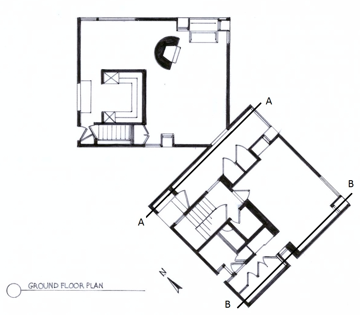 floor+plan+for+section The Fisher House Floor Plan In Bronx on esherick house floor plan, richard neutra house floor plan, fisher house louis kahn cad, avery fisher hall floor plan, home alone house floor plan, louis kahn fisher house plan,