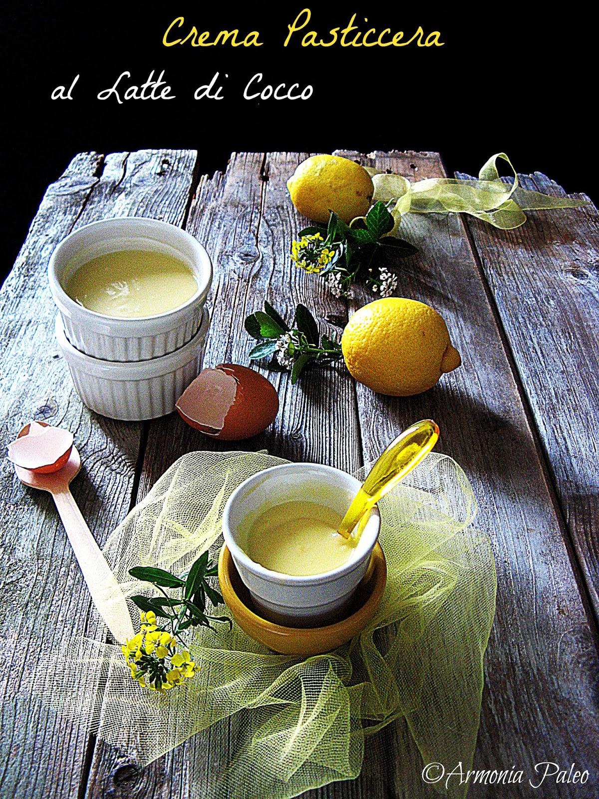 Crema Pasticcera al Latte di Cocco di Armonia Paleo