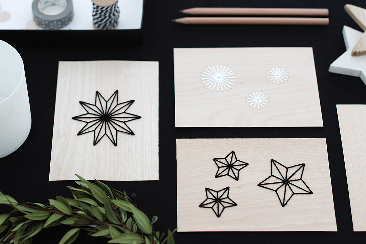 bildsch nes holz sticken weihnachtskarten mal anders. Black Bedroom Furniture Sets. Home Design Ideas