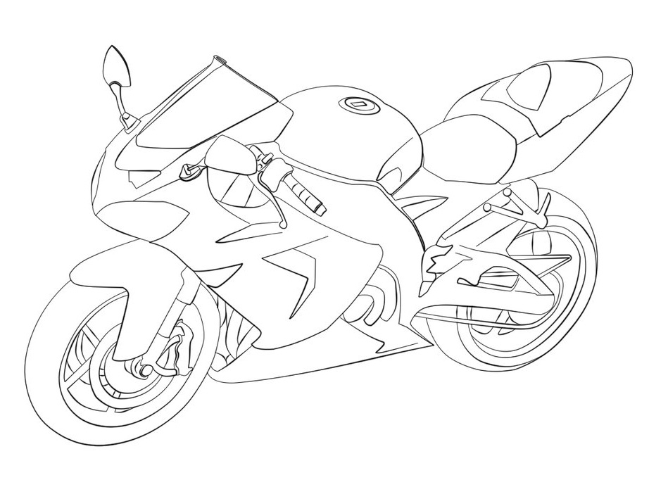 Free ninja motorcycle coloring pages