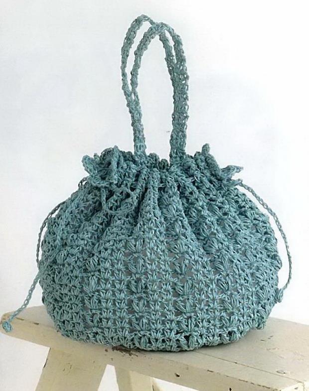 Crochet Bag, easy crochet bucket bag