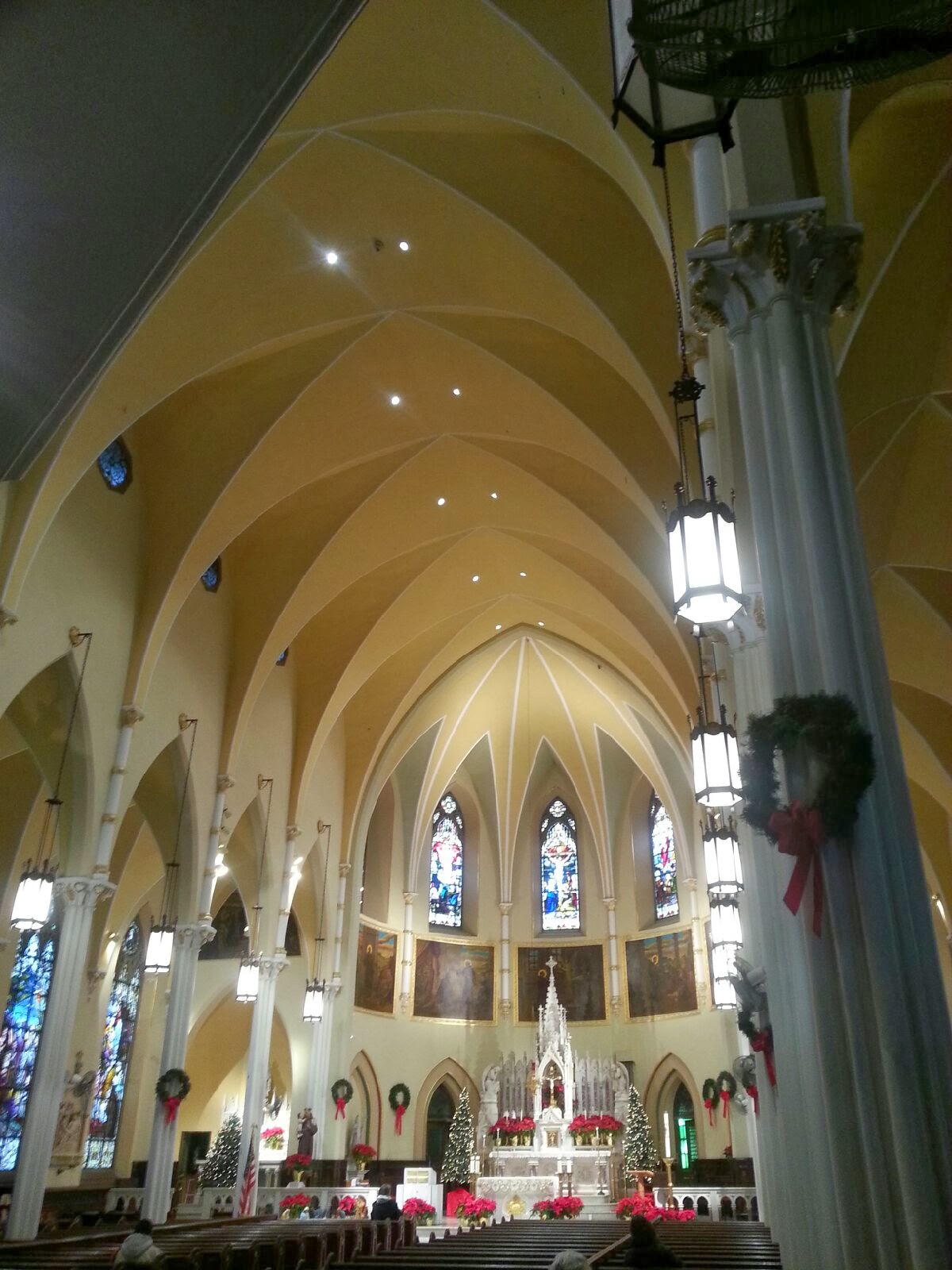 Interior of main church building