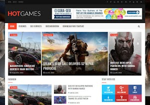 Hot games Blogger template responsive