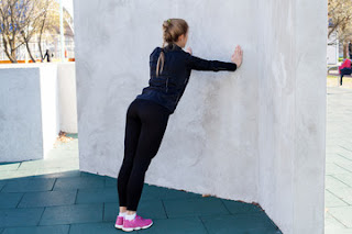 wall push up- duvar şınavı