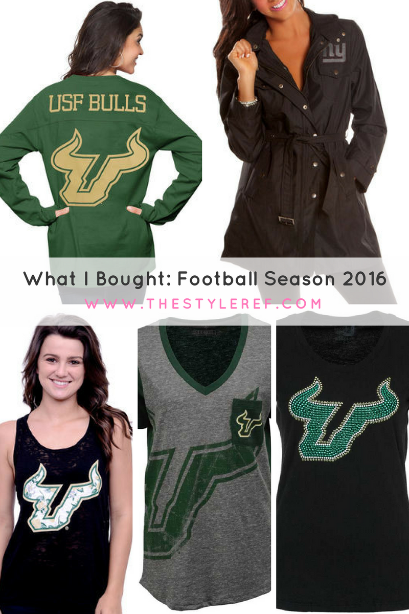 women's NFL and USF football fan clothing