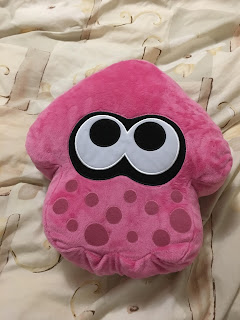 Splatoon pink Squid cushion pillow merchandise