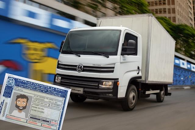caminhão, Delivery, Express, lançamento, caminhoneiro, categoria b, caminhoneiro jovem, 18 anos, habilitação, carteira de motorista,