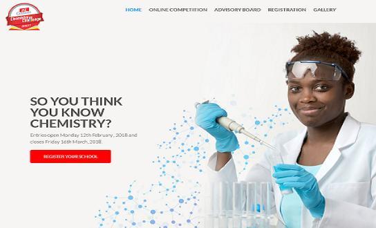PZ Cussons Chemistry Challenge 2018 Online Registration