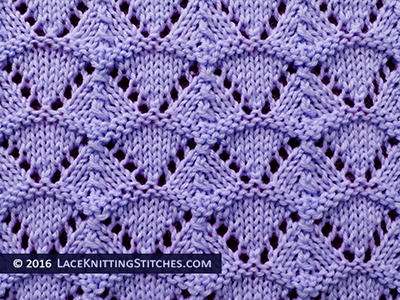 Lace Knitting. #38 Shell Lace stitch