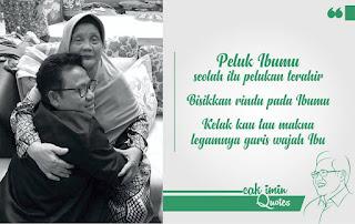 Kata Mutiara Rindu Sang Ibu dari Cak Imin