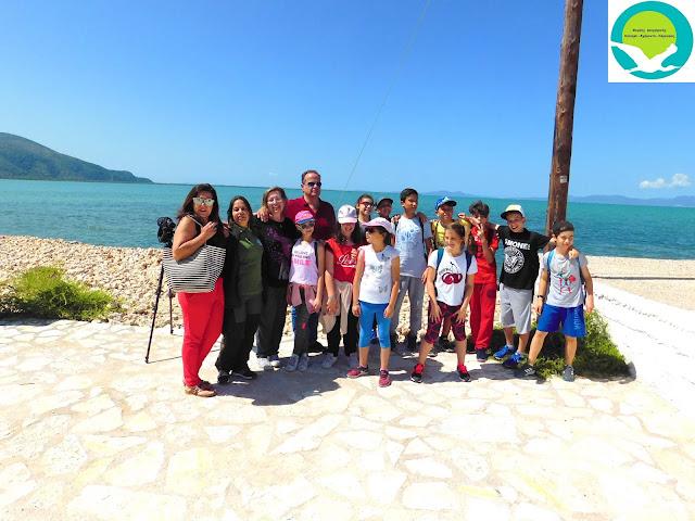 Ξενάγηση δημοτικού σχολείου Περιστερίου στο Κέντρο Πληροφόρησης Καλαμά στη Σαγιάδα