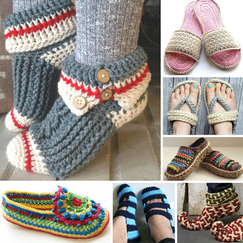 Crochet Women Slippers - Free Patterns