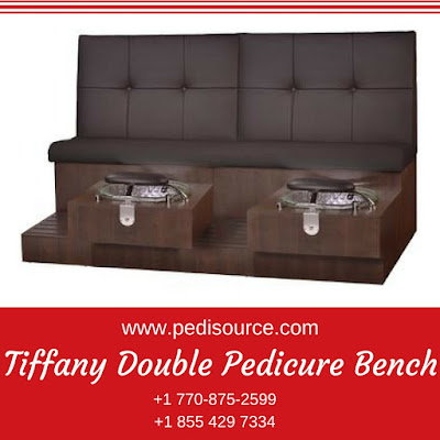 Tiffany Double Pedicure Bench from pedisource.com