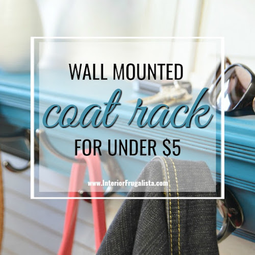 Wall Mounted Coat Rack For Under $5!