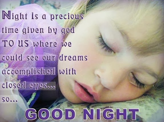 Saying good night