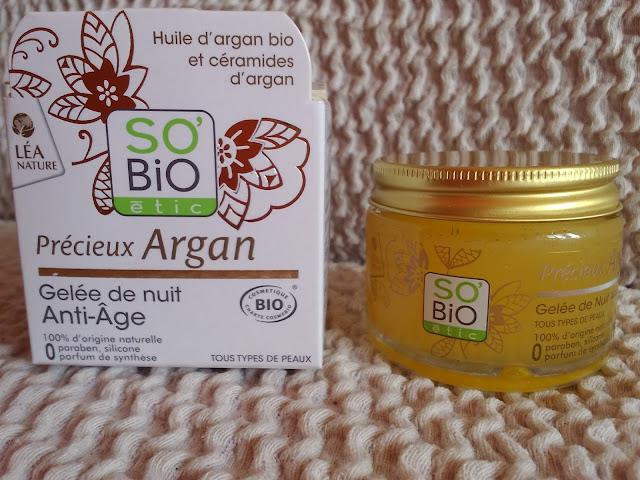 So Bio étic Argan Anti-Aging Night Gel