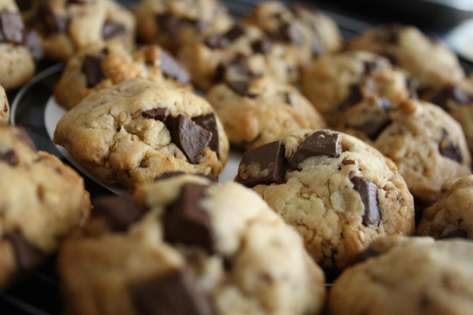 Recette cookies chocolat sésame gourmand et facile