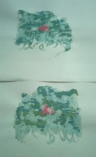 pete verzi, desen, incercari de incepator