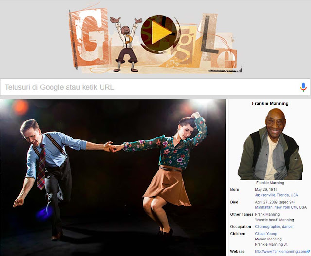 Frankie Maning, Bapak Pendiri Landy Hop Mejeng di Google Doodle Hari ini
