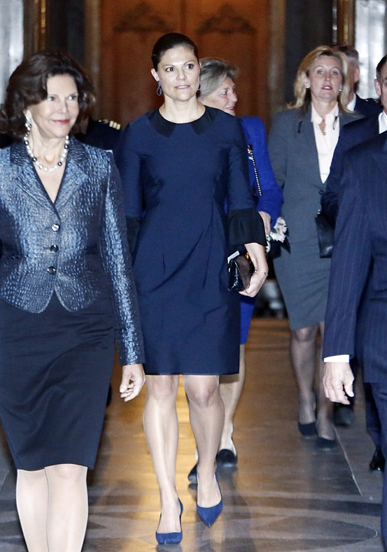 Queen Silvia, King Carl Gustaf and Prince Daniel and Crown Princess Victoria attends the Royal Swedish
