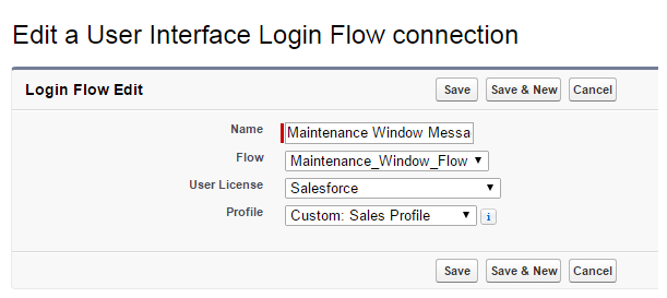 Salesforce Stuff: Login Flows to Display Important Messages
