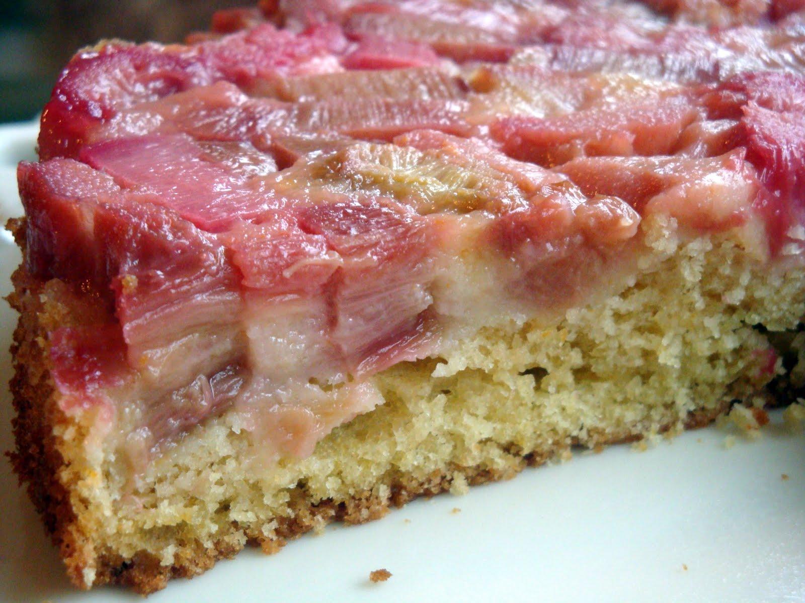 Yummy By Emmy Rhubarb Buttermilk Cake