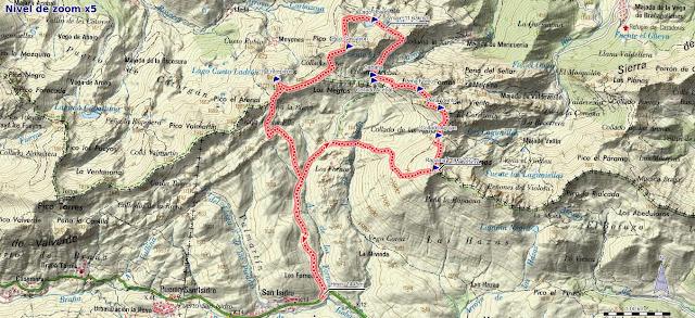 Mapa de la ruta circular a Wamba