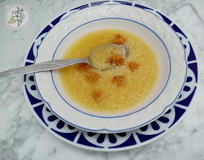 Sopa Vegana Express con Tropezones