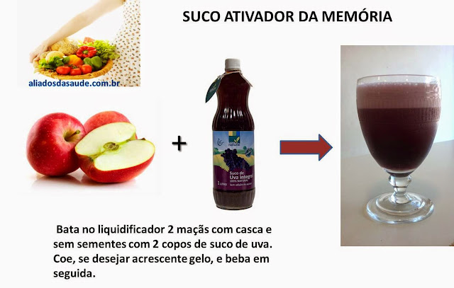 suco de maça com uva para a memória