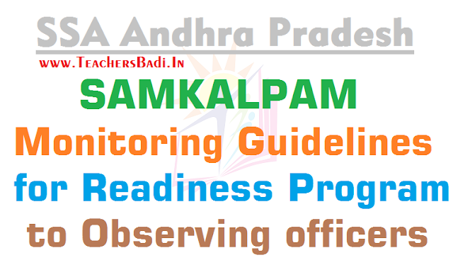 SAMKALPAM,Monitoring Guidelines,Readiness Program,Observing officers
