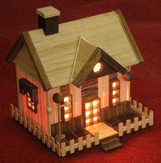 แบบบ้านไม้ไอติมแต่งไฟ
